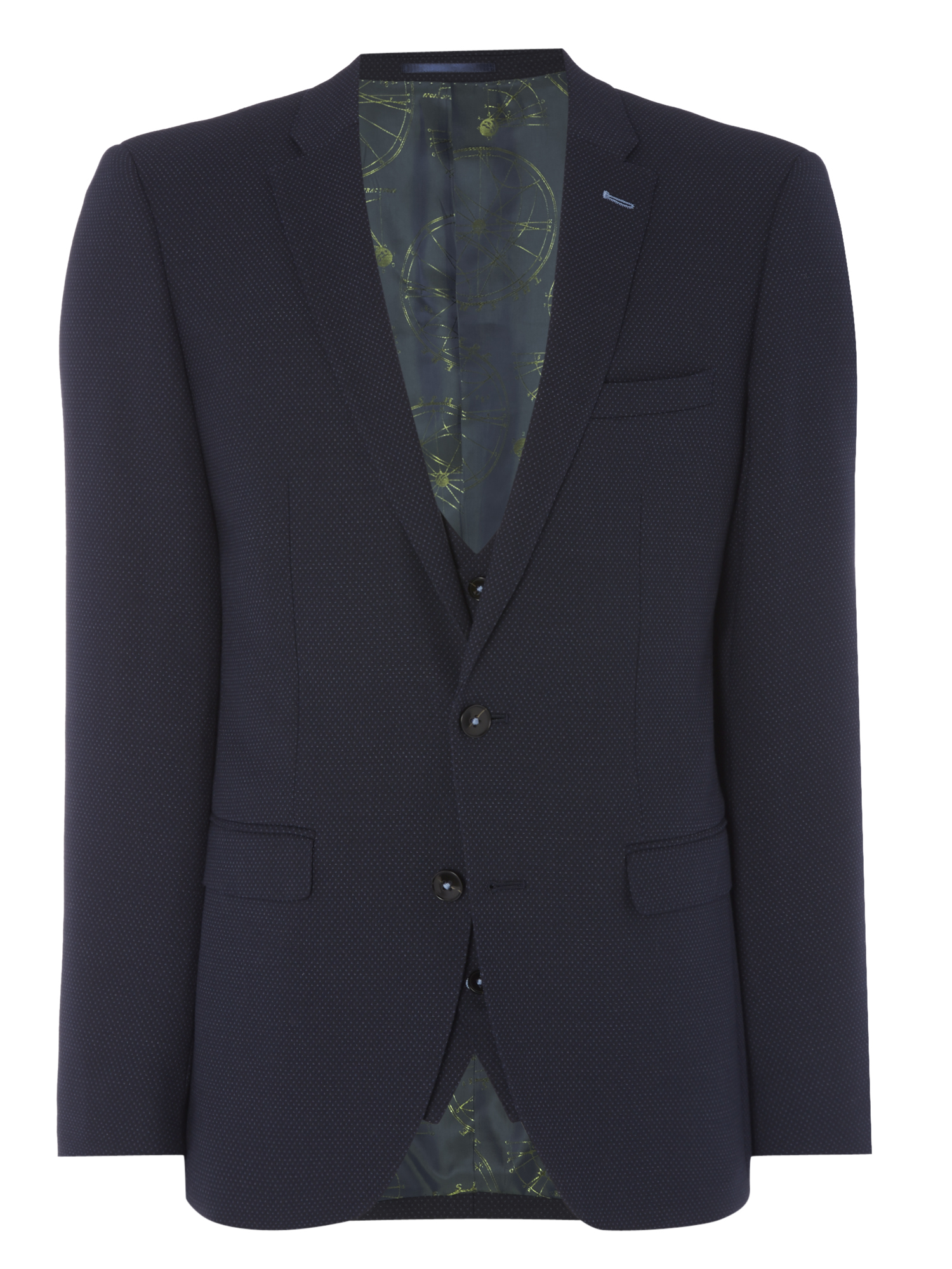 X-slim fit wool-rich stretch mix n match suit