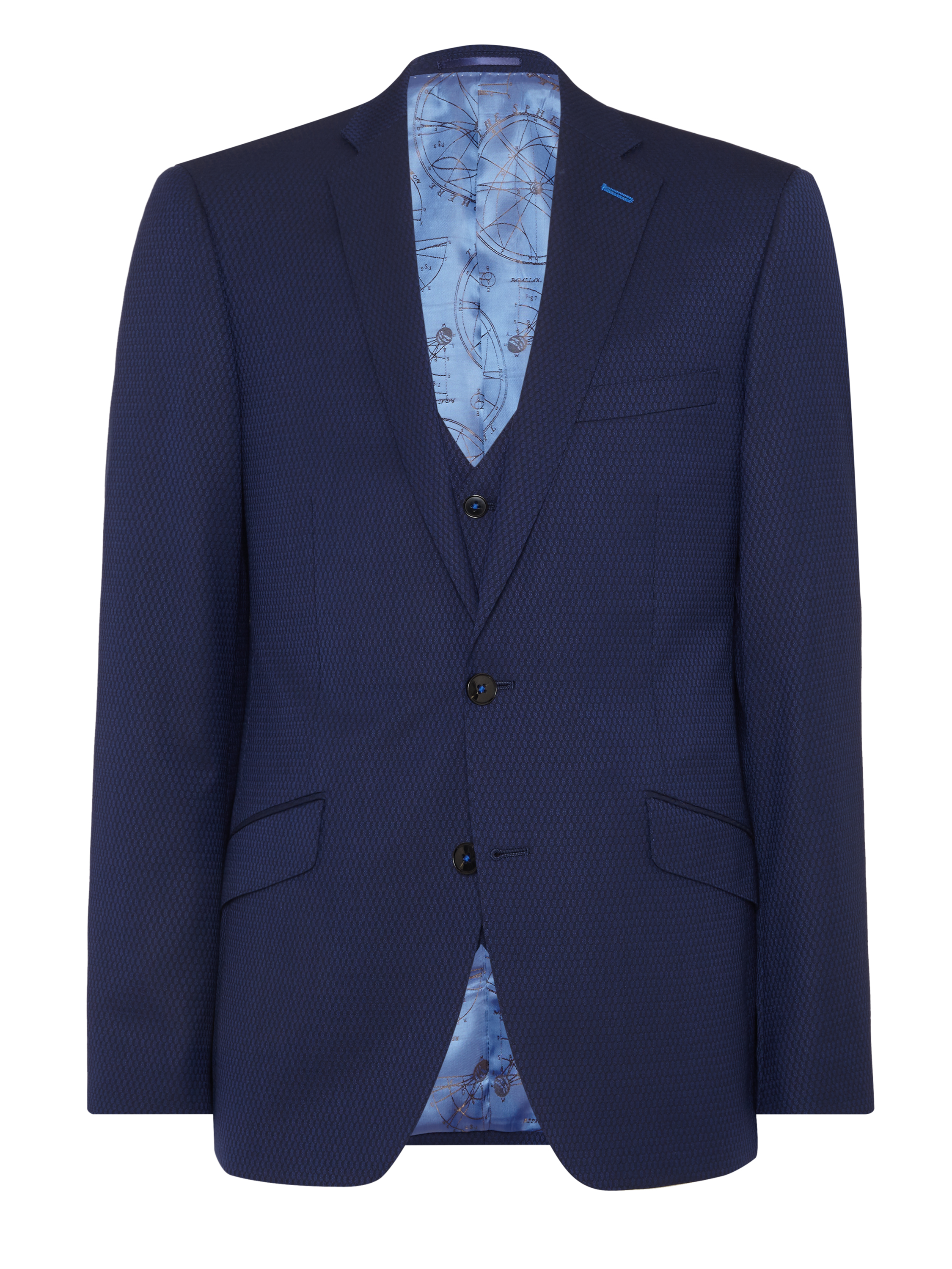 Tapered fit wool-rich mix n match suit