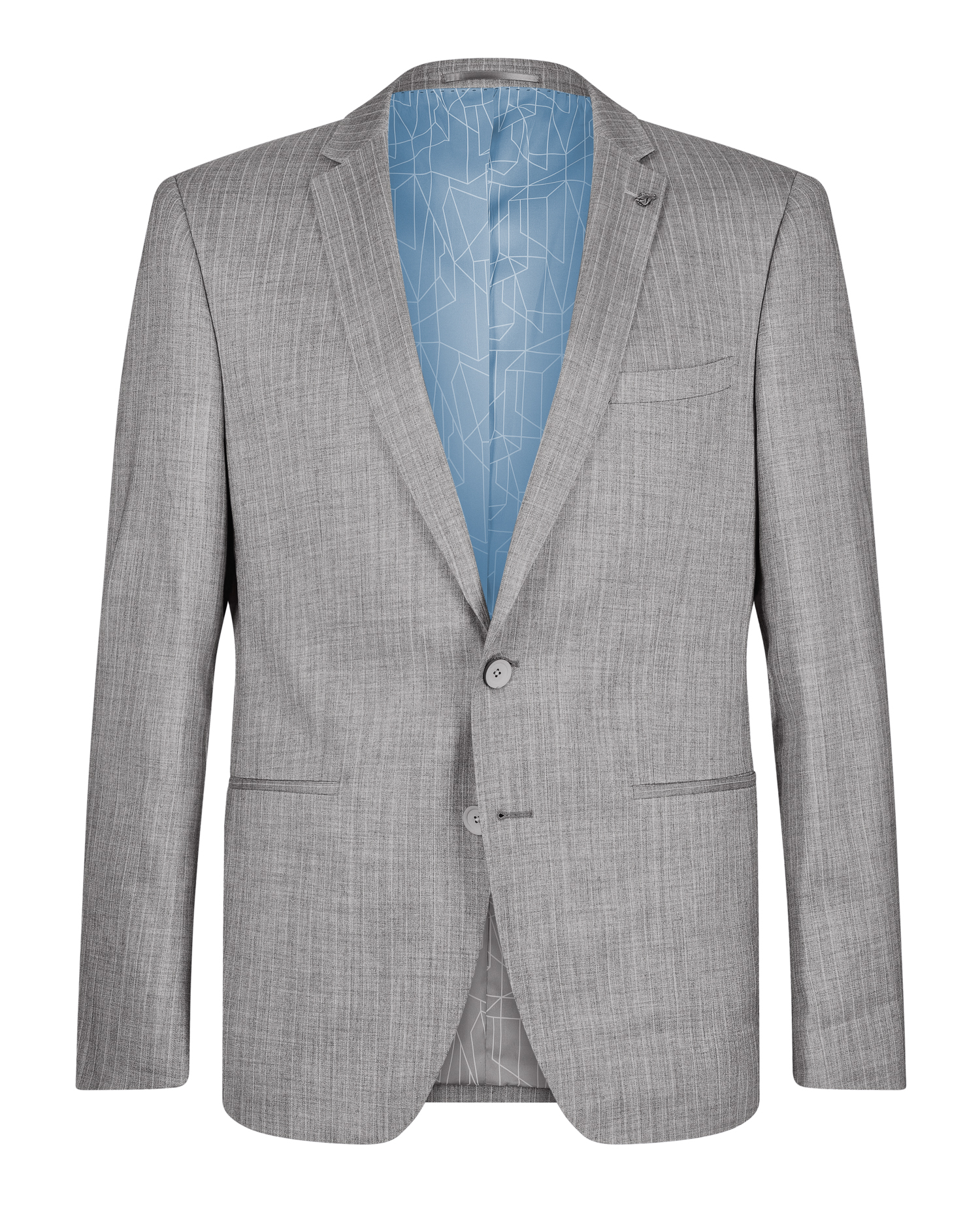 Slim Fit Pinstripe Casual Suit Jacket