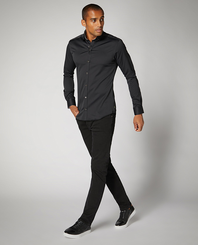 Slim Fit Cotton-Stretch Shirt