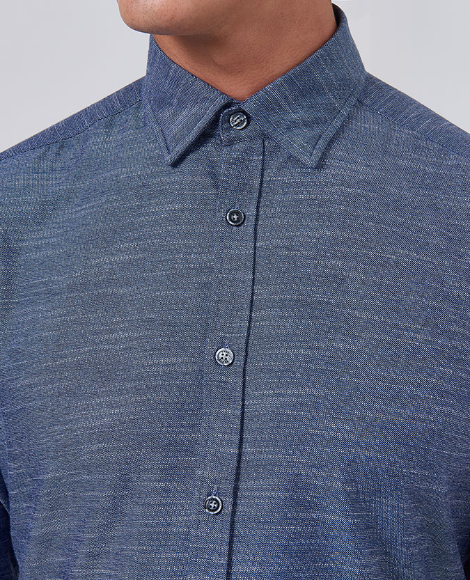 Tapered Fit Cotton Shirt