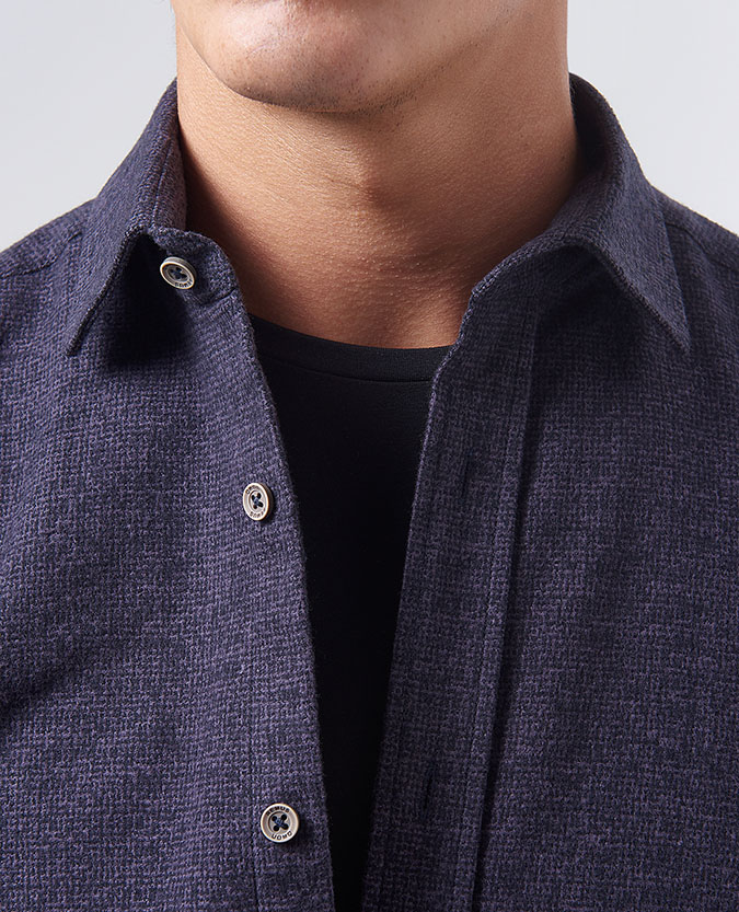 Tapered Fit Cotton Overshirt
