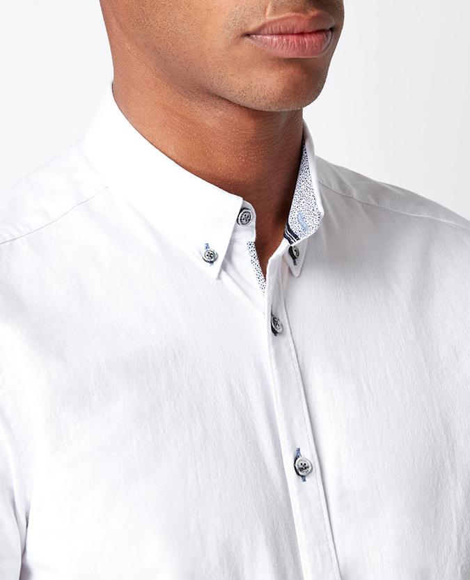 Slim Fit Cotton-Stretch Short Sleeve Shirt