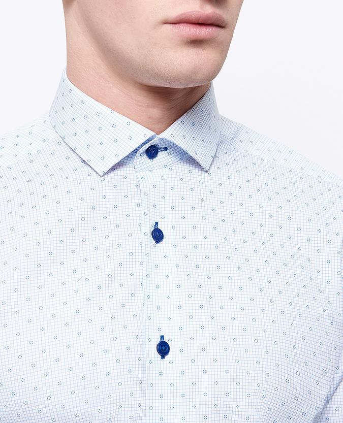 Slim Fit Printed Cotton-Stretch Shirt