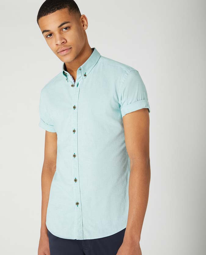 Slim Fit Cotton Short Sleeve Shirt