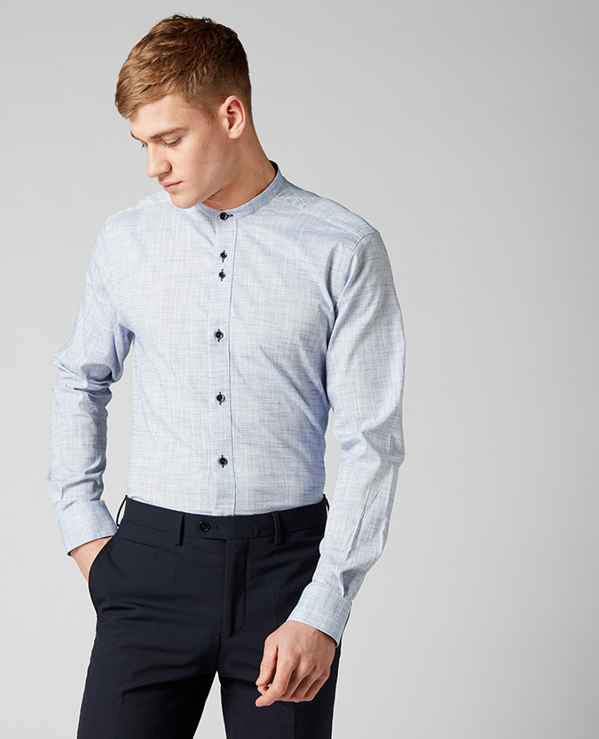 Tapered Fit Cotton-Stretch Shirt