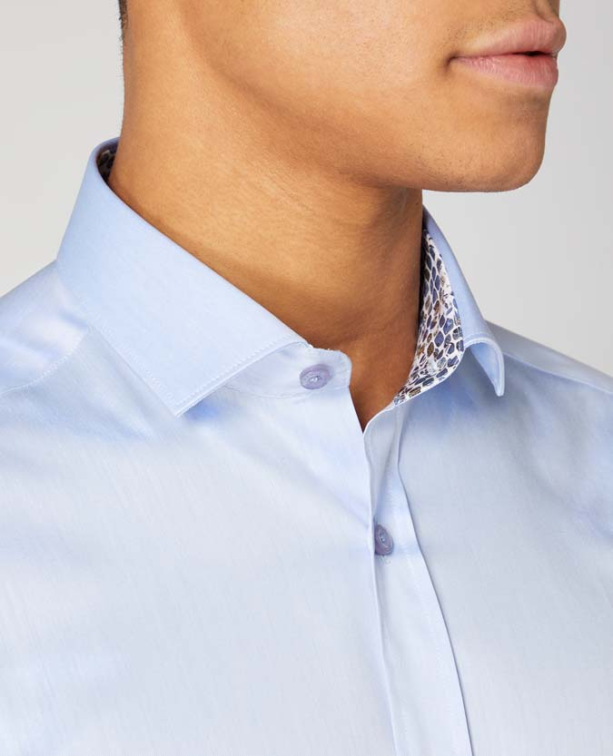 Slim Fit Cotton Blend Shirt