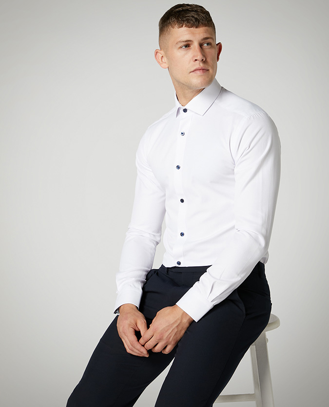 Slim Fit Cotton-Blend Shirt