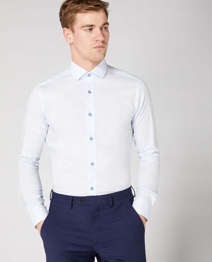 Slim Fit Cotton Stretch Shirt