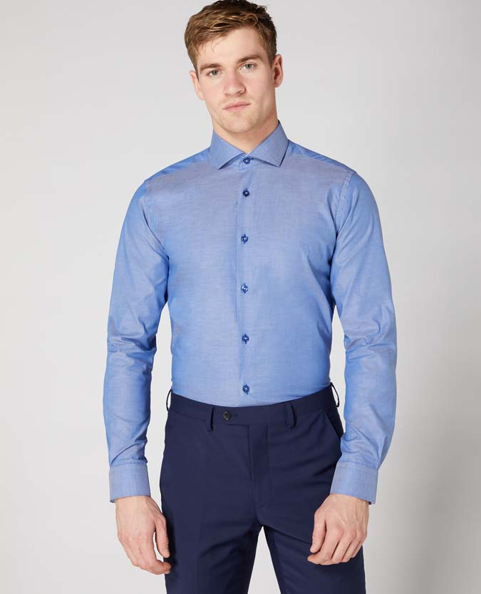 Tapered Fit Cotton Stretch Shirt