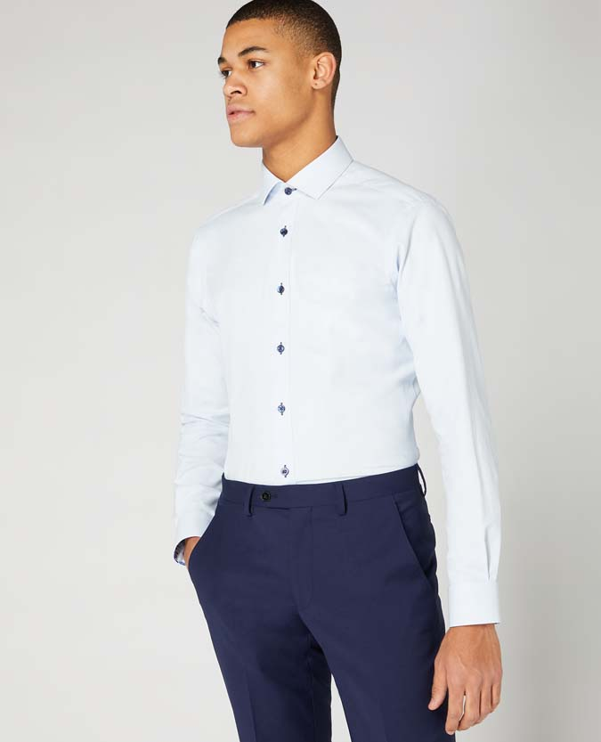 Slim Fit Cotton-Blend Stretch Shirt
