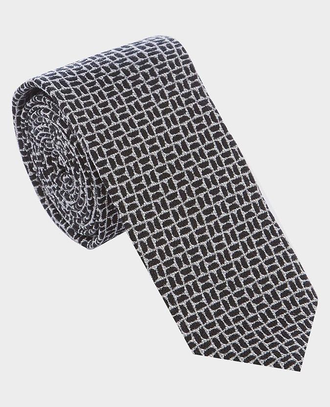 Wool-Silk Geometric Tie