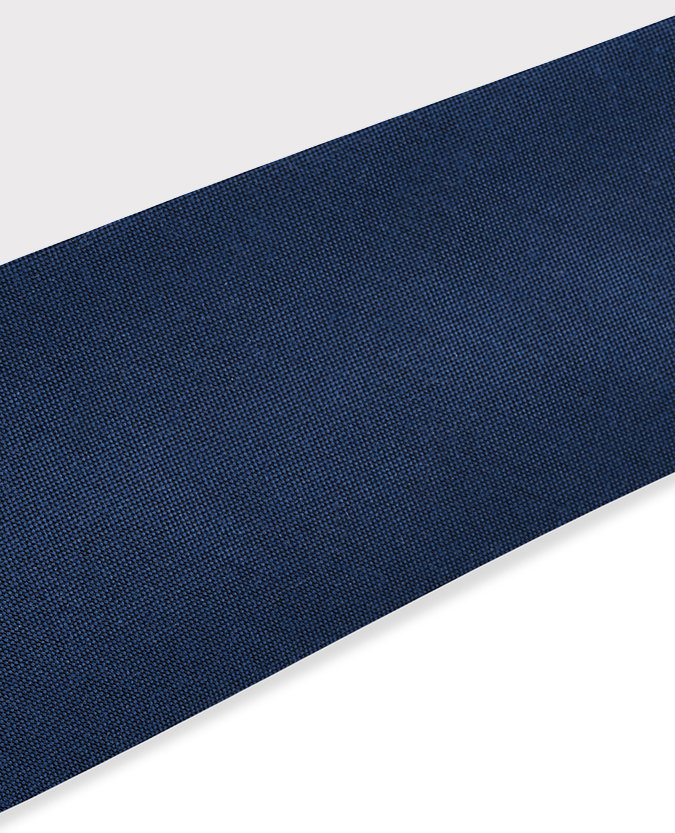 Plain Cotton-Silk Narrow Tie