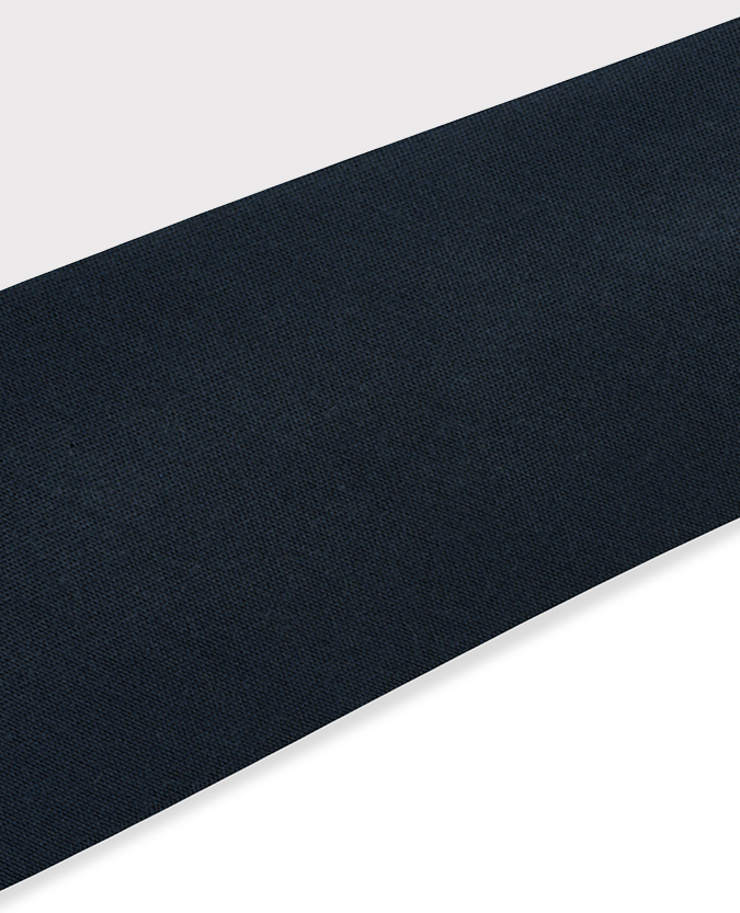 Plain Cotton-Silk Narrow Tie