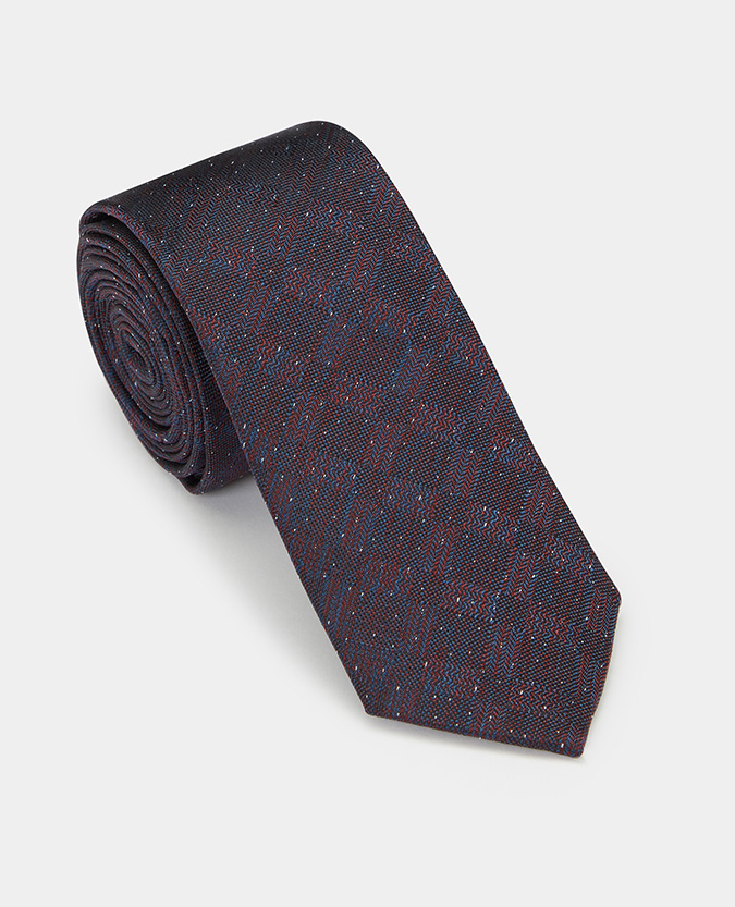 Geometric Pure Silk Narrow Tie