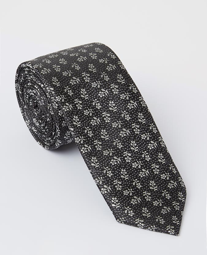 Floral Silk Narrow Tie