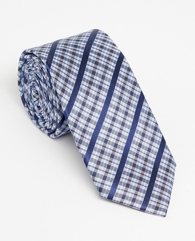 Checked Pure Silk Tie