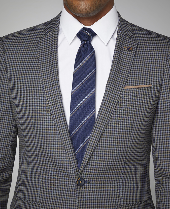 Striped Silk-Wool Tie