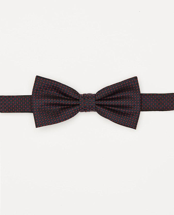 Microfibre Geometric Bow Tie