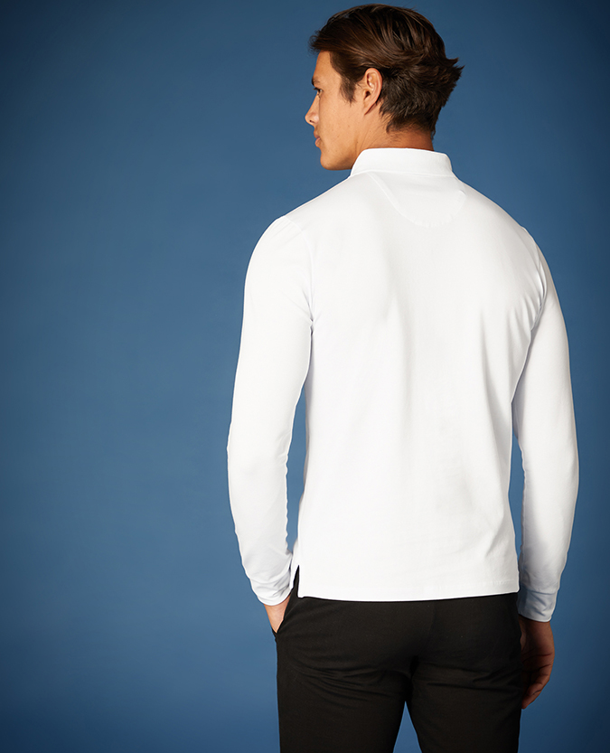 Tapered Fit Cotton-Stretch Polo Shirt