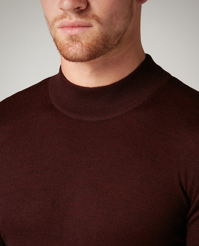 Slim Fit Merino Wool-Blend Turtle Neck Sweater