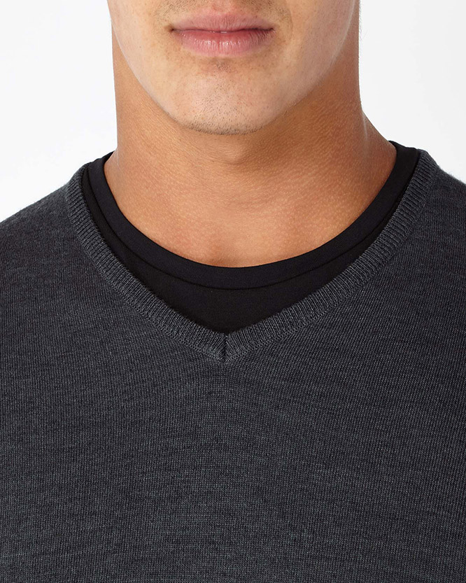 Slim Fit Merino Wool-Blend V-Neck Sweater