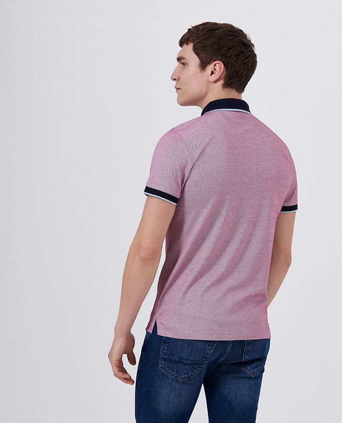 Tapered Fit Cotton-Stretch Pique Polo Shirt