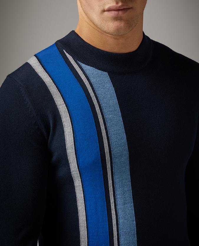Slim Fit Merino Wool-Blend Crew Neck Sweater