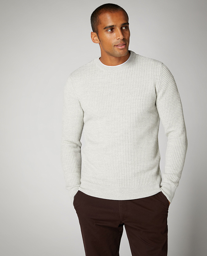 Tapered Fit Cotton-Blend Sweater