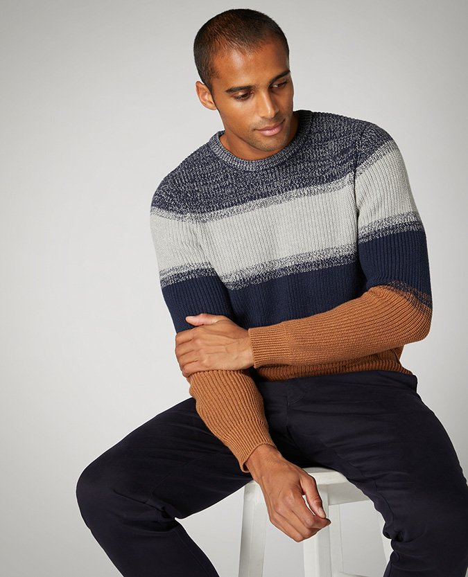 Tapered Fit Cotton Sweater