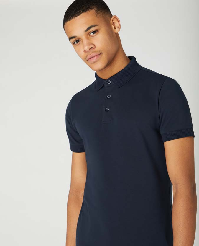 Tapered Fit Cotton-Stretch Jersey Polo Shirt