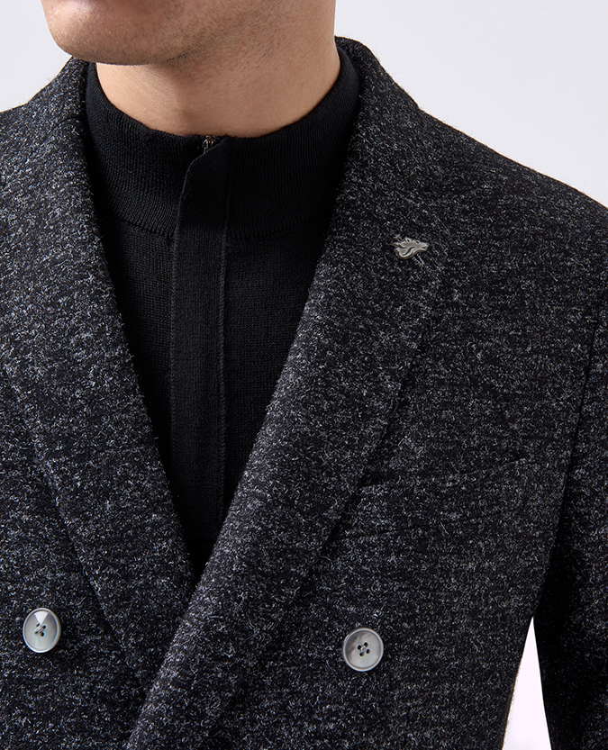 Slim Fit Wool-Rich Double Breasted Jacket