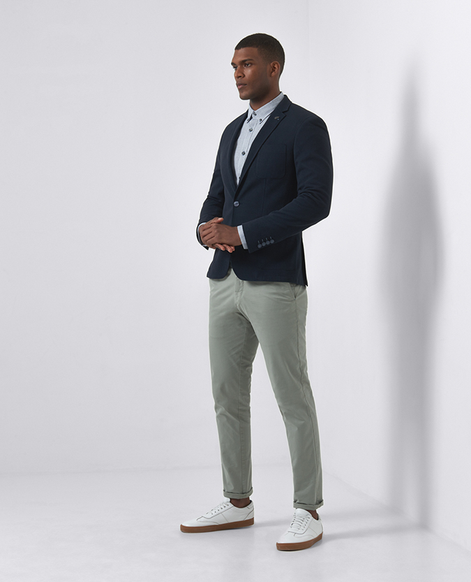 Slim Fit Cotton-Blend Jacket