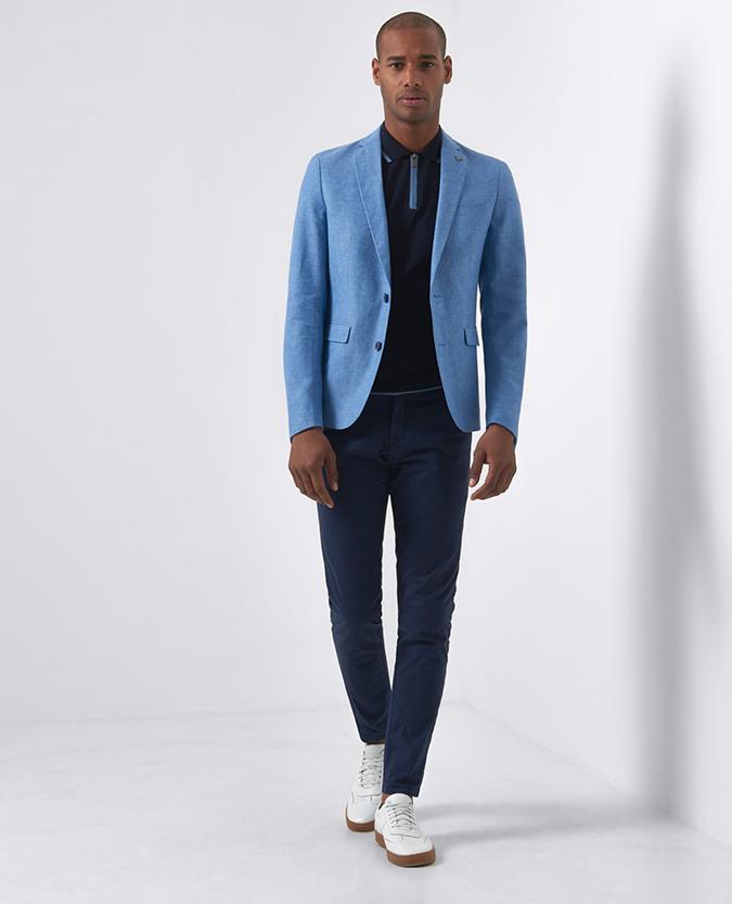 Slim Fit Linen-Blend Jacket