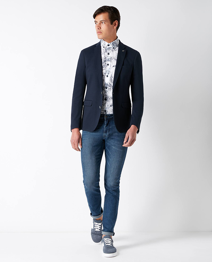 Slim Fit Cotton-Stretch Jacket