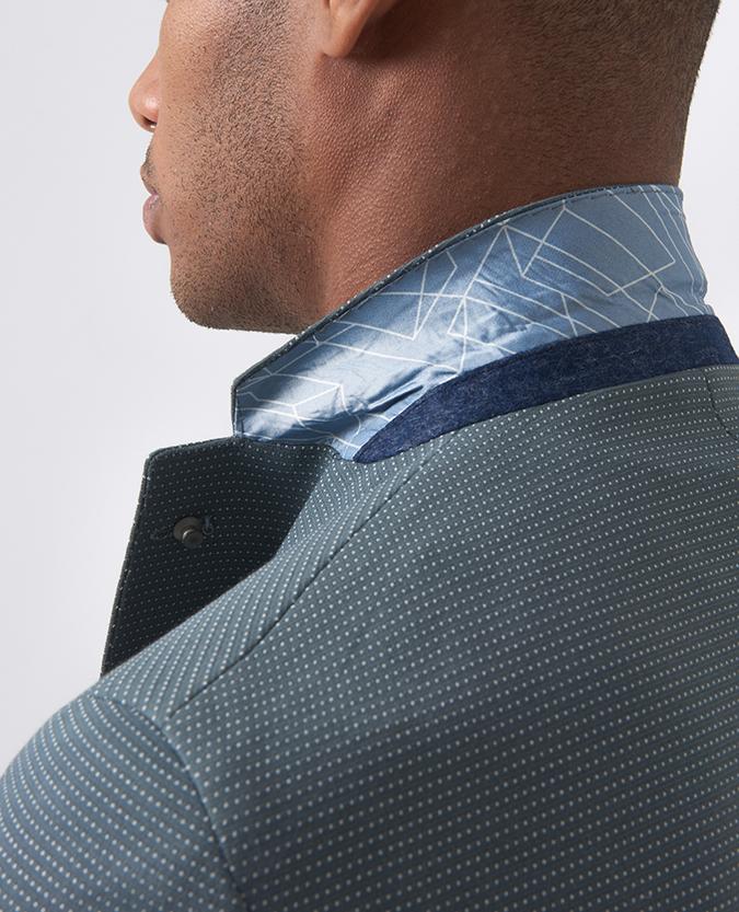 Slim Fit Cotton-Blend Stretch Jacket
