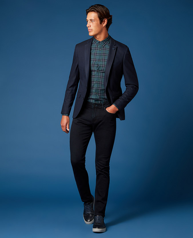 Slim Fit Plain Jacket