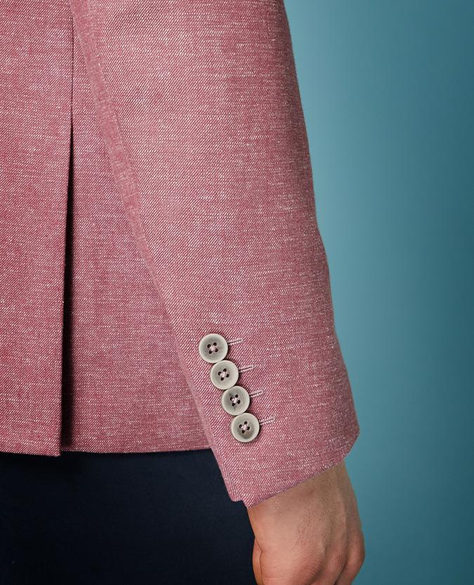Tapered Fit Linen-Blend Jacket