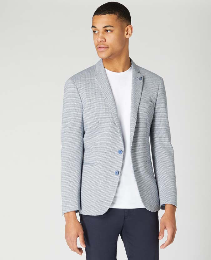 Slim Fit Cotton-Blend Stretch Jersey Jacket