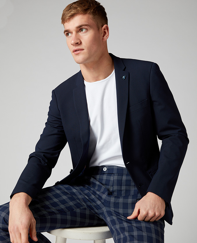 Slim Fit Seersucker Jacket