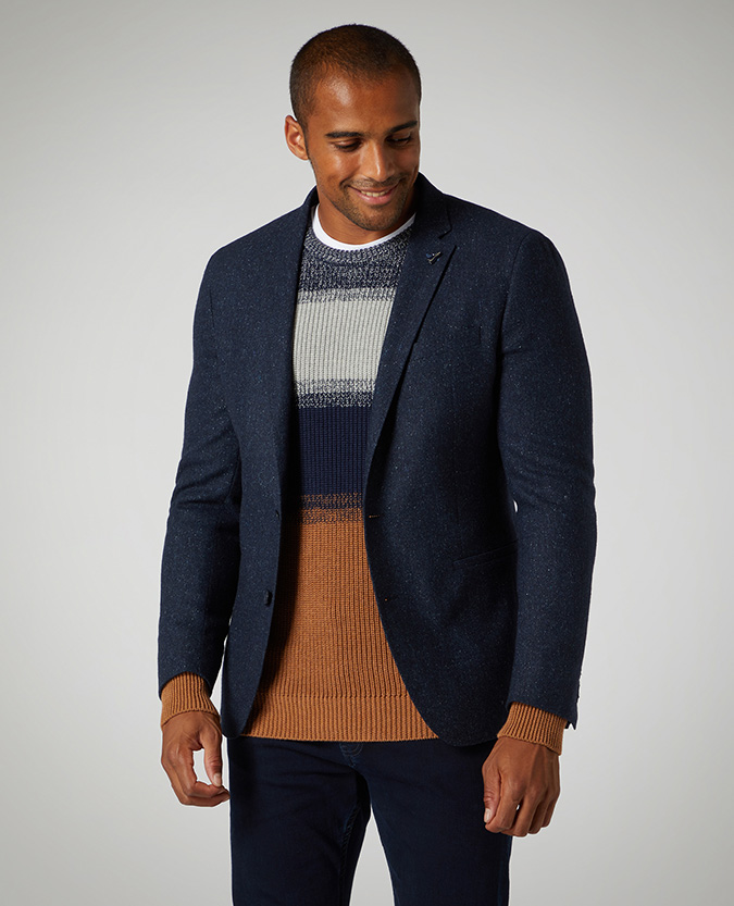 Slim Fit Wool Blend Jacket