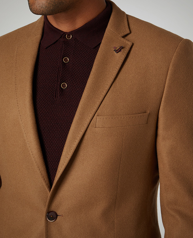 Slim Fit Wool-Blend Jacket