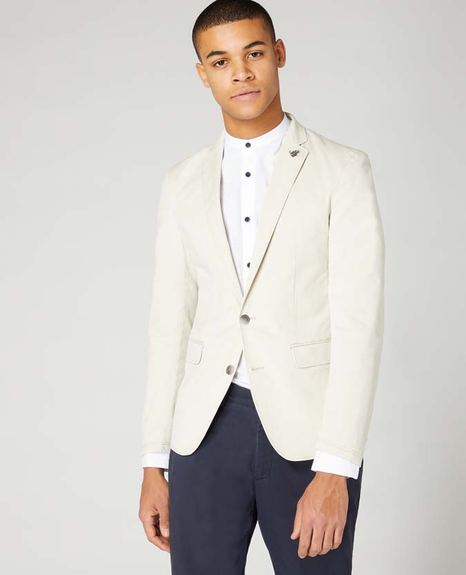 Slim Fit Tencel-Cotton Stretch Jacket