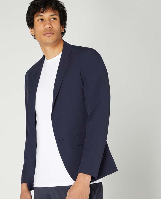 Slim Fit Nylon Stretch Jacket