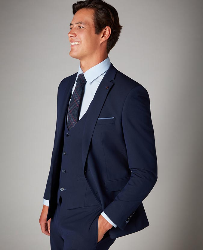 Slim Fit Stretch 3 Piece Suit