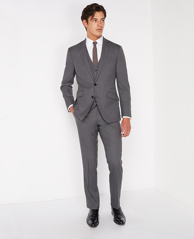 Tapered Fit Wool-Rich Mix and Match Suit