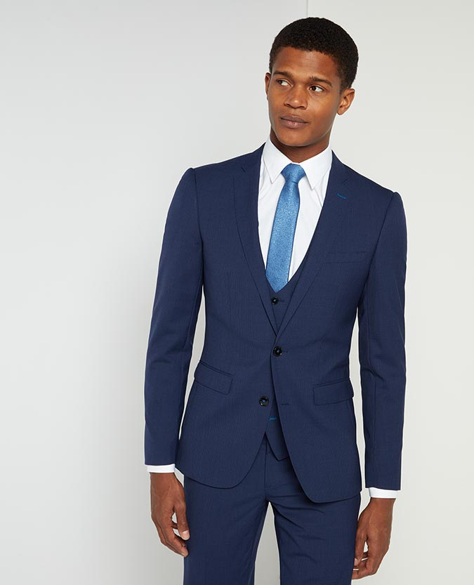 X-Slim Fit Micro-Check Wool-Rich Mix and Match Suit