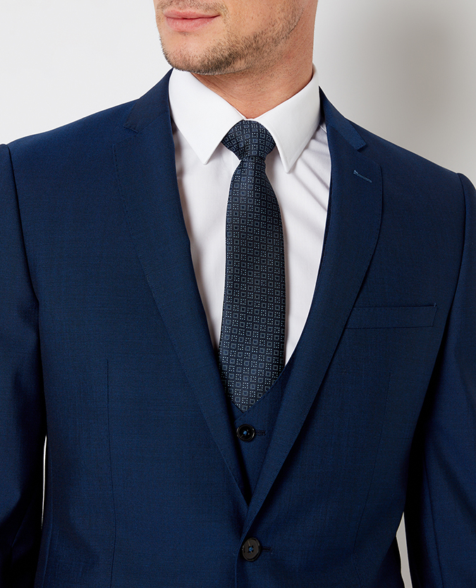 Slim Fit Wool-Rich Mix and Match Performance Suit