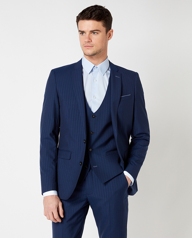 X-Slim Fit Pinstripe Wool-Rich Mix and Match Suit