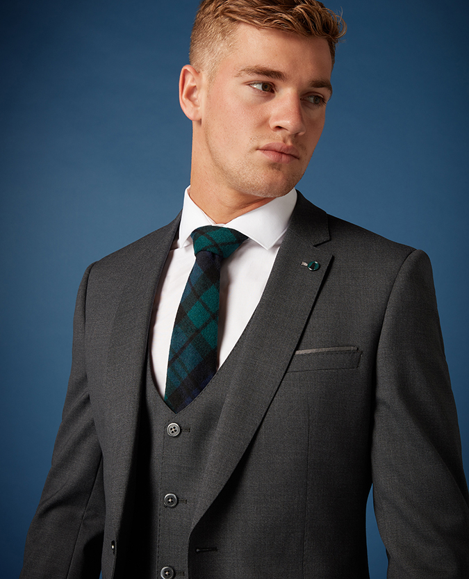 Slim Fit Wool-Blend Stretch Mix and Match Suit